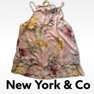 New York & Company soft floral pink Thin strap
